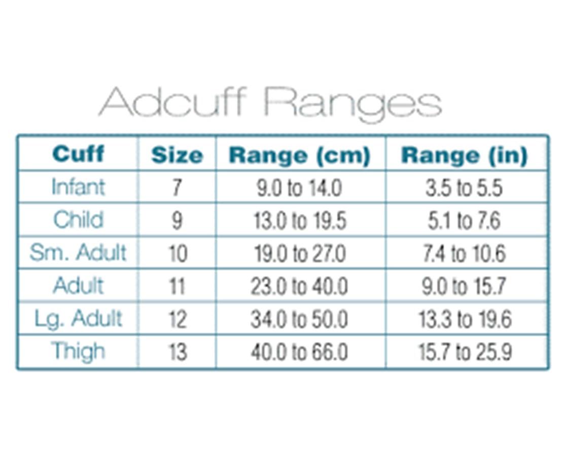 Adcuff sizes
