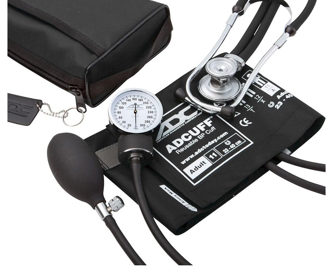 Pro's Combo II Pocket Aneroid Kit with Adscope Sprague Stethoscope ADC768-641-11ABK-