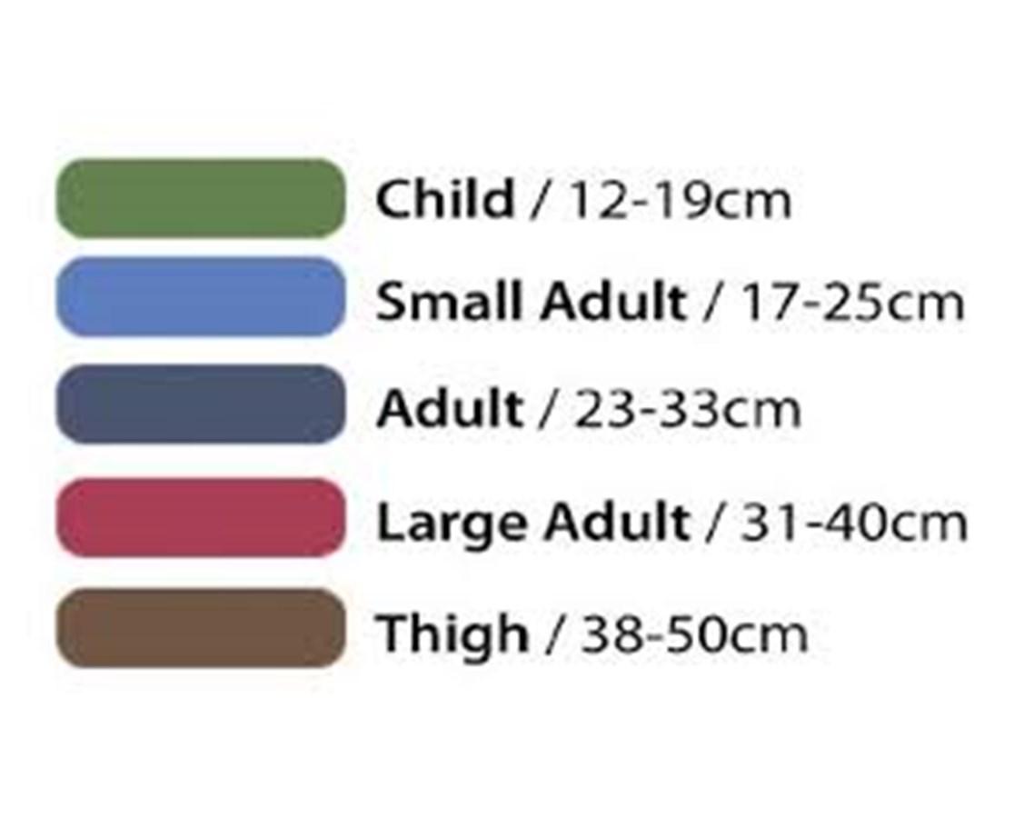 ADview cuff size chart