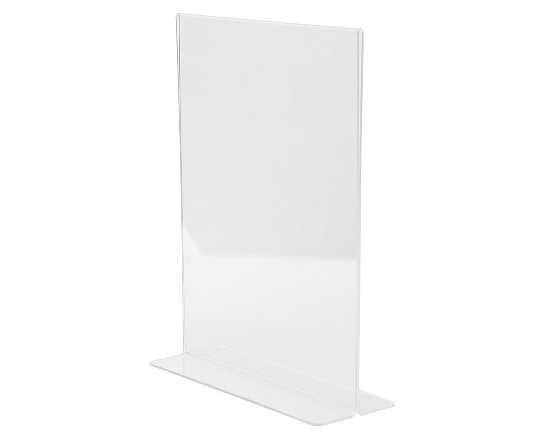 AdirOffice 8.5 x 11 Inches Clear T-Shaped Base Sign Holder ADI639-8511-3-TS