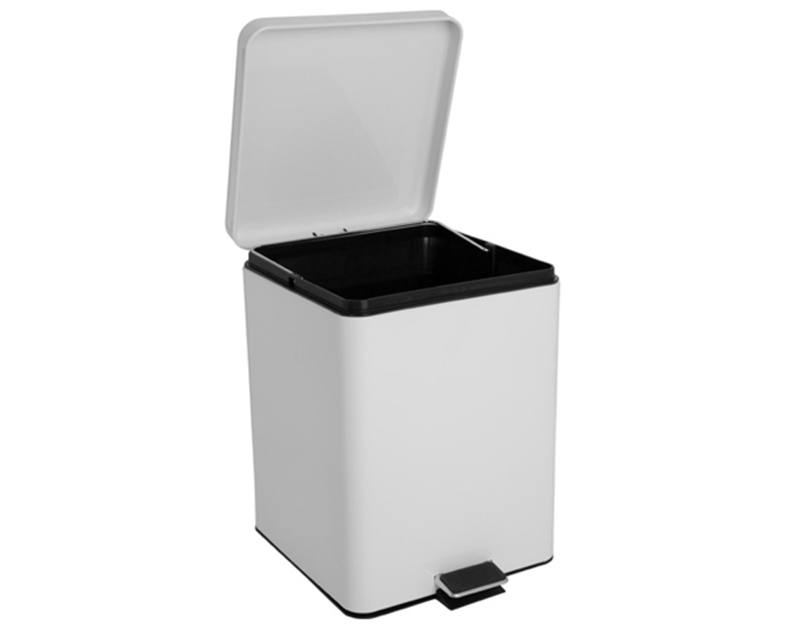 Square Waste Can (White) LARGE BRE35266