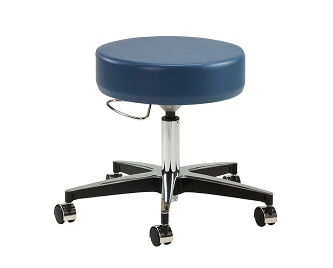 5-Leg Black Accented Aluminum Base Stool CLI-2156-