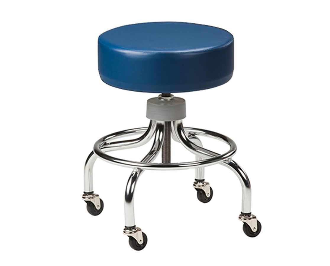 Clinton Chrome Base Stool Save At Tiger Medical Inc