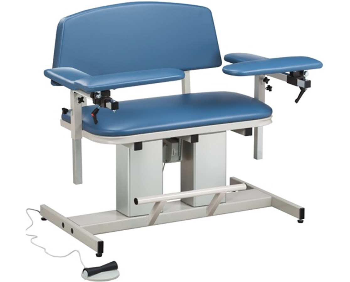 Power Series Bariatric Blood Drawing Chair with Padded Arms CLI6361