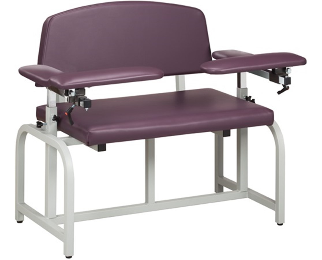 Clinton Industries 6000B-F Bariatric Blood Drawing Chair with Flip Arms