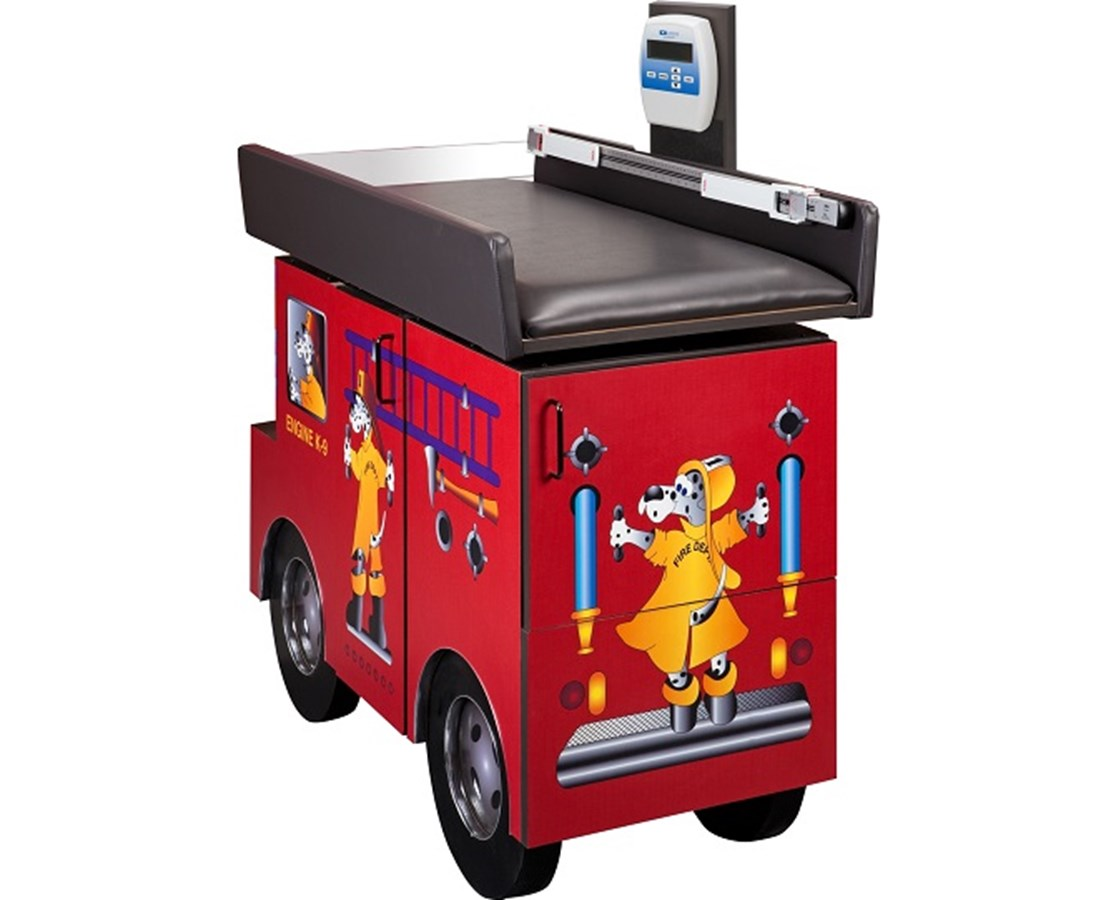 Scale Table - Pediatric Engine K-9 with Dalmatian Firefighters CLI7833