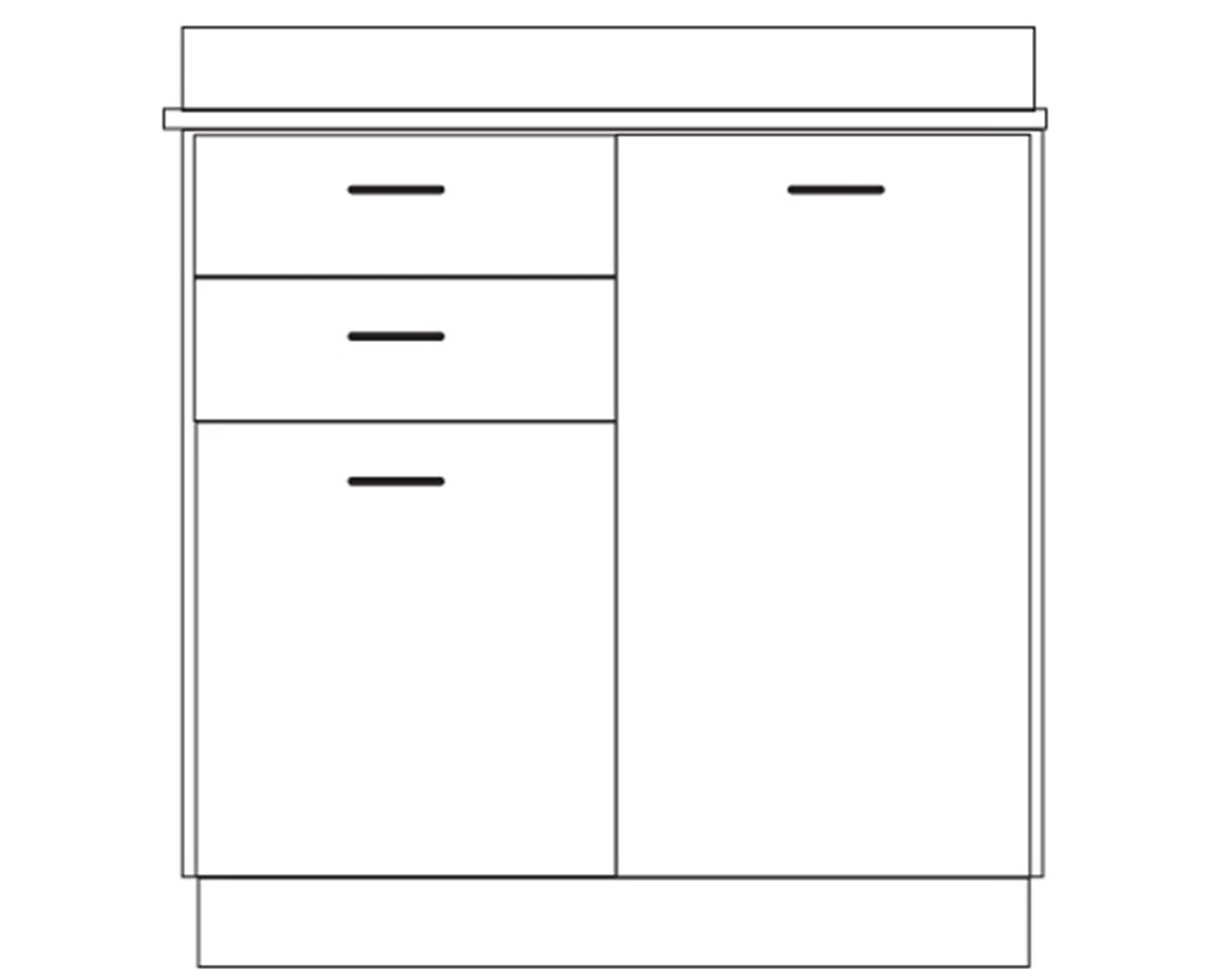 Clintonclean™ Base Cabinet with 2 Doors & 2 Drawers CLI8036-P