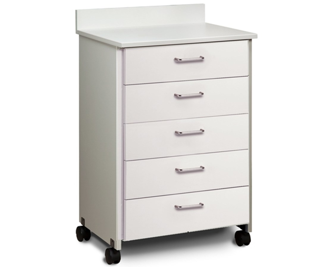 Clintonclean™ Mobile Treatment Cabinet with 5 Drawers CLI8950-P