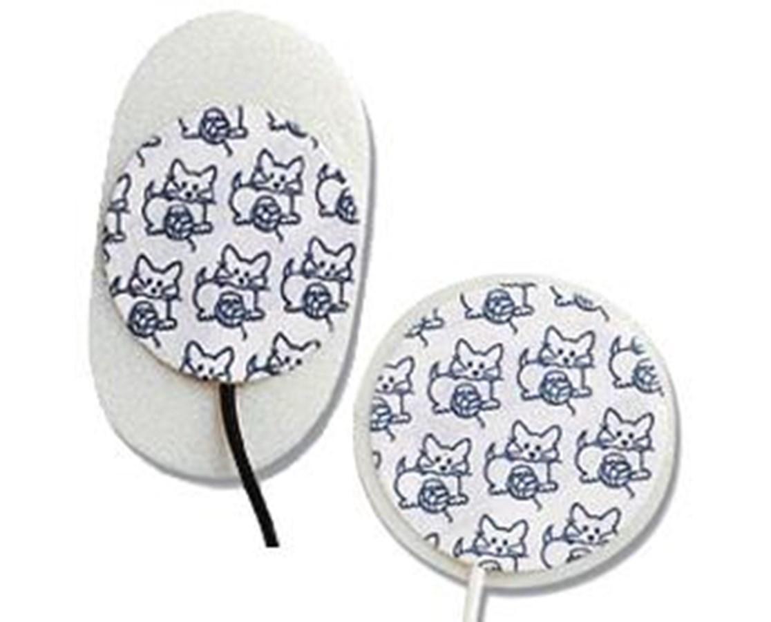 MEDI-TRACE™ KITTYCAT™ Pre-Wired Neonatal Foam Electrodes, Case COV30710001