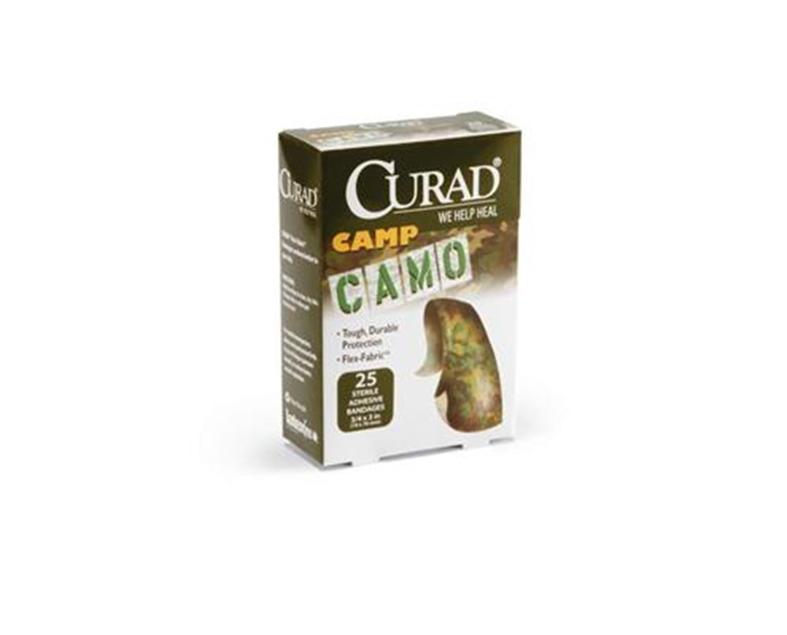 Camo Fabric Adhesive Bandages CURCUR45701-