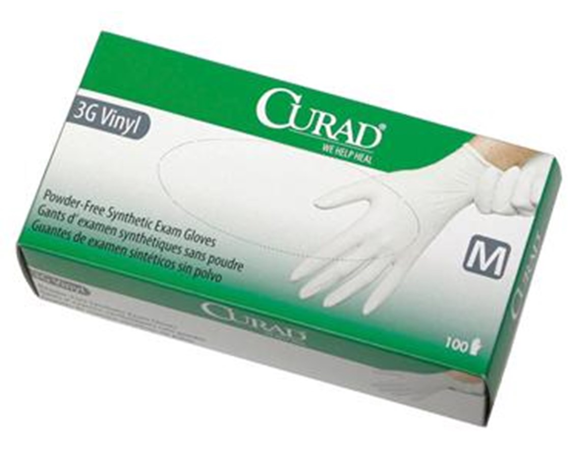 Powder-Free Latex-Free 3G Vinyl Exam Gloves CURCUR8234H-