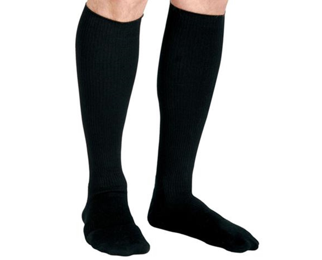 Black 15-20 mmHg Knee Length Compression Socks CURMDS1716ABH-