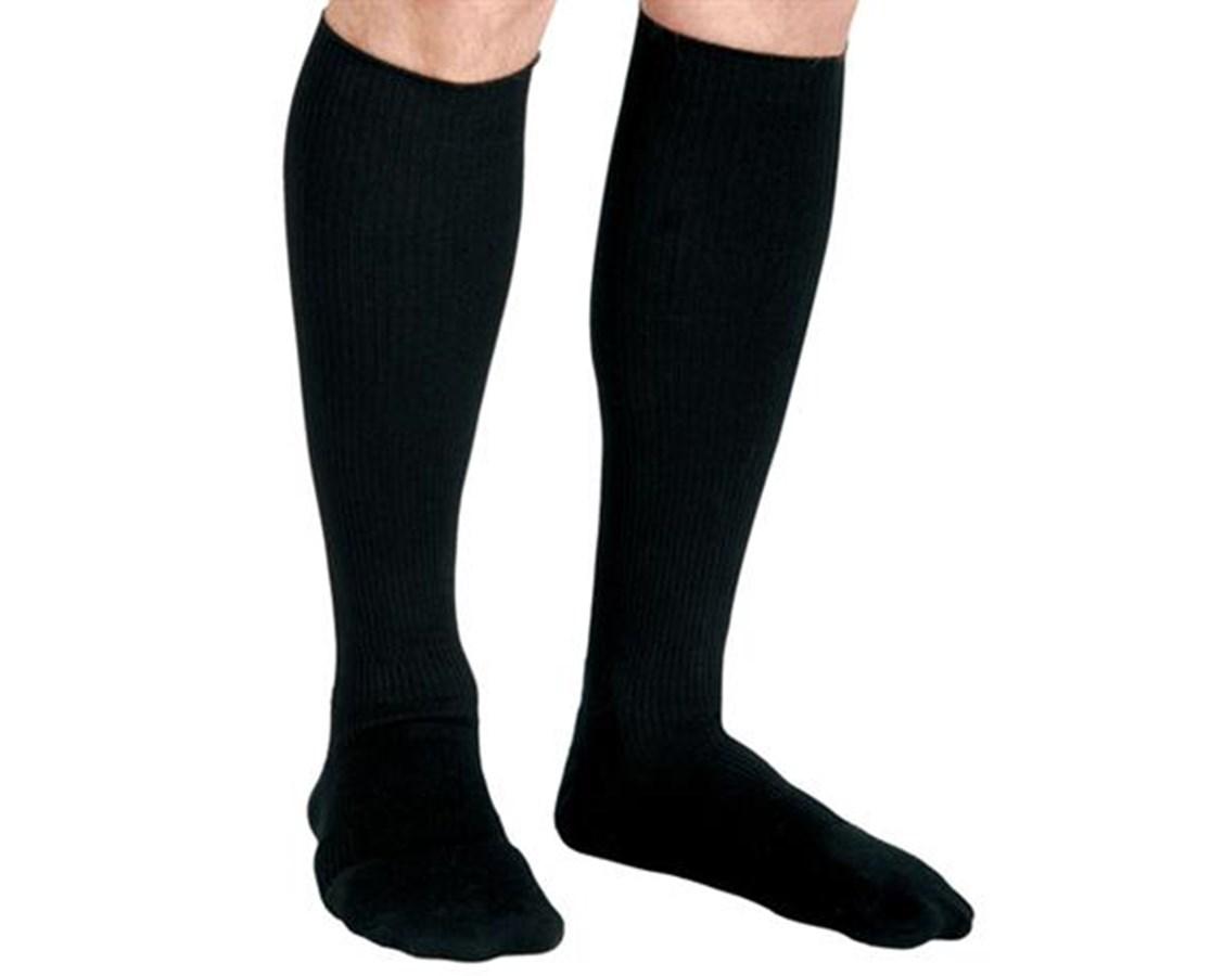Black 20-30 mmHg Knee Length Compression Socks CURMDS1718ABH-