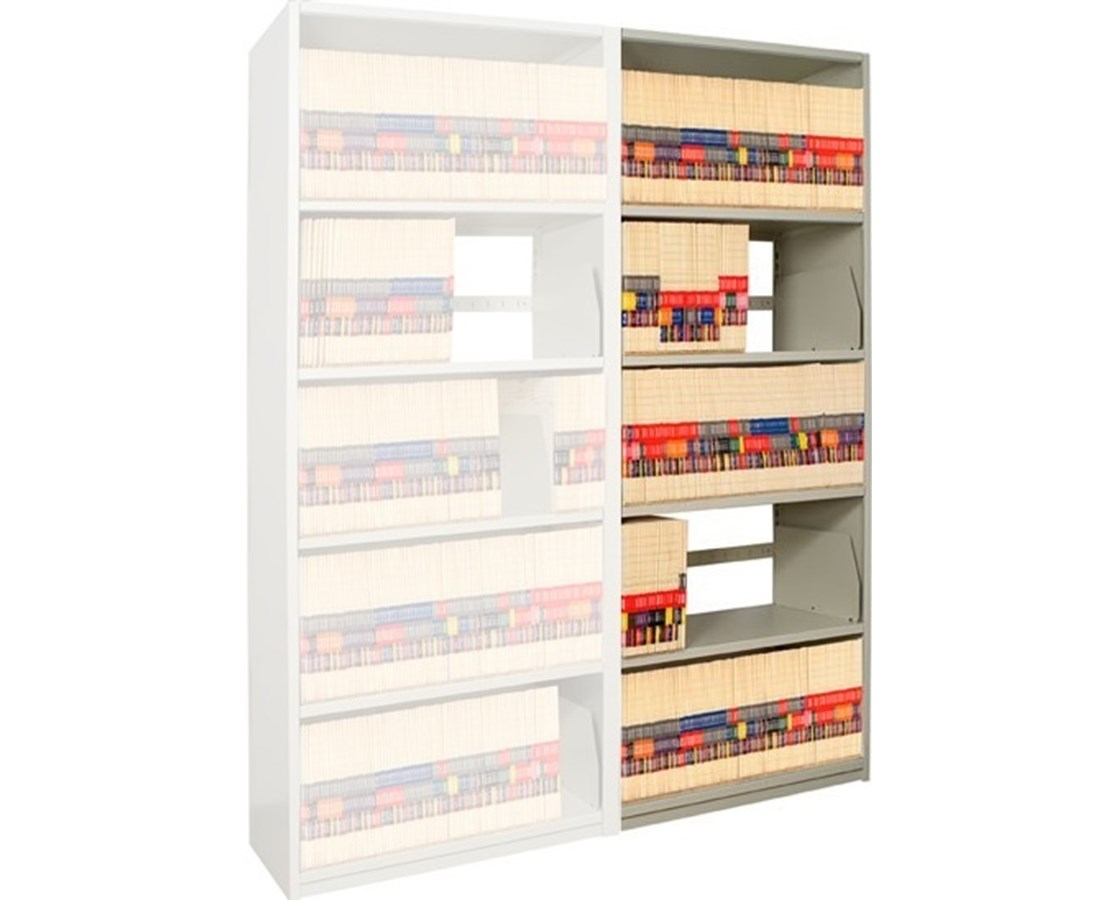 "4Post X-Ray Add-On Shelving 88-1/4"" High, 5 Openings DAT881824-A5-"