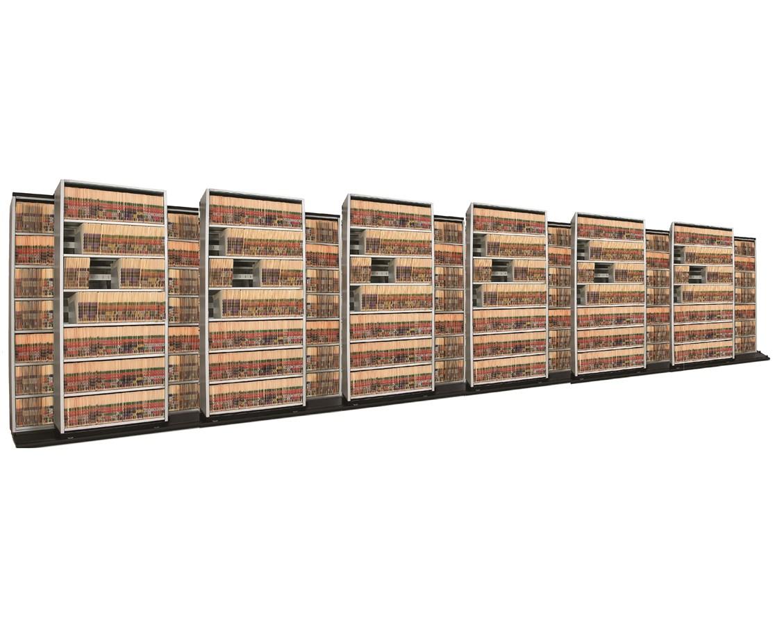 4 Post BiSlider Filing System 13 Units - 7/6 DATB676LT-4P7-