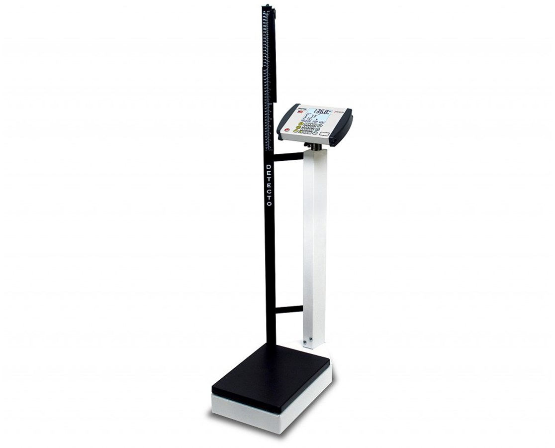 Digital Waist-High Scale with Height Rod DET8430