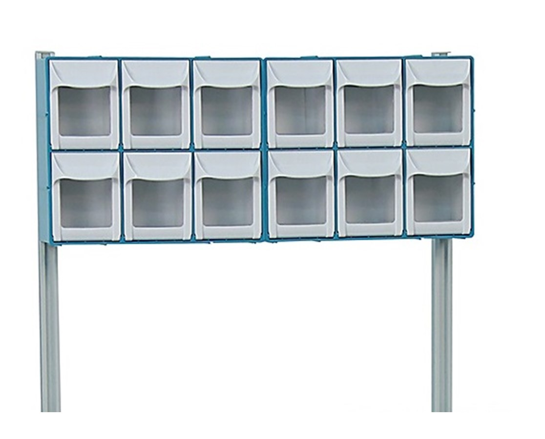 12-Bin Organizer w/ Accessory Bridge for Rescue Medical Carts DETCAB12