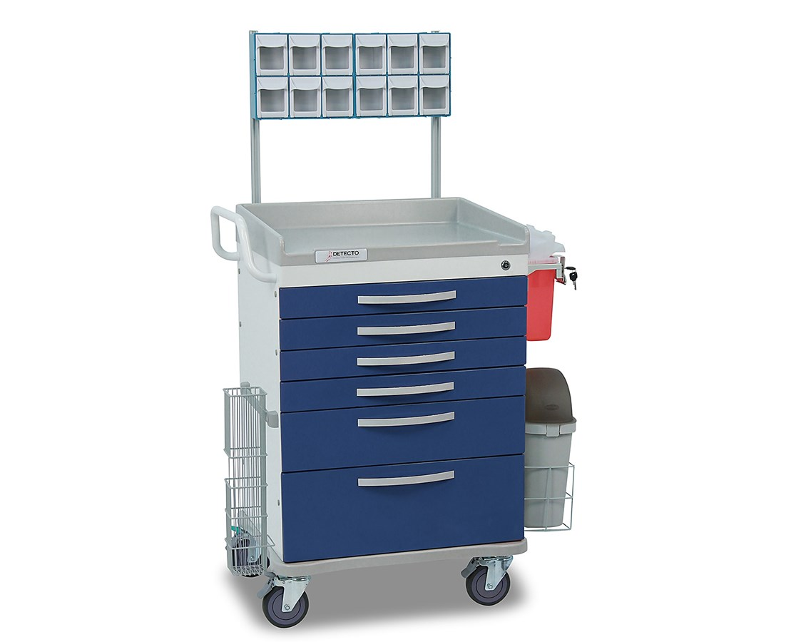Whisper Series Anesthesiology Medical Cart, Blue DETWC33669BLU