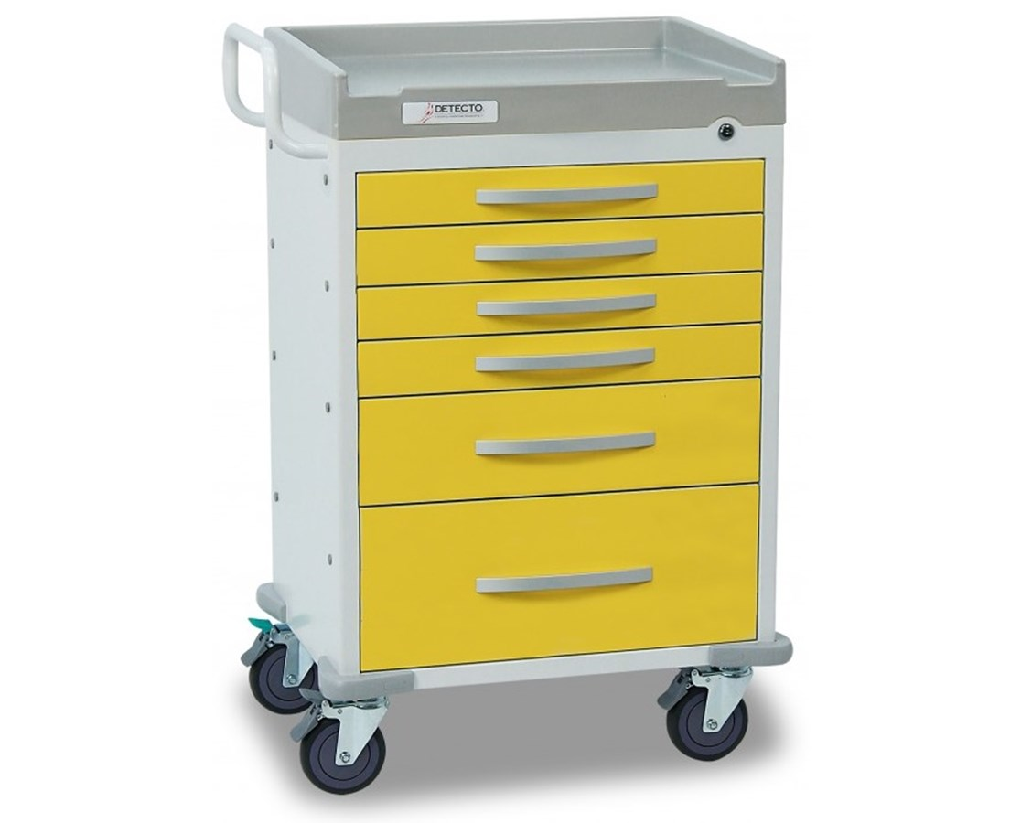 Whisper Series Isolation Medical Cart, Yellow DETWC33669YEL