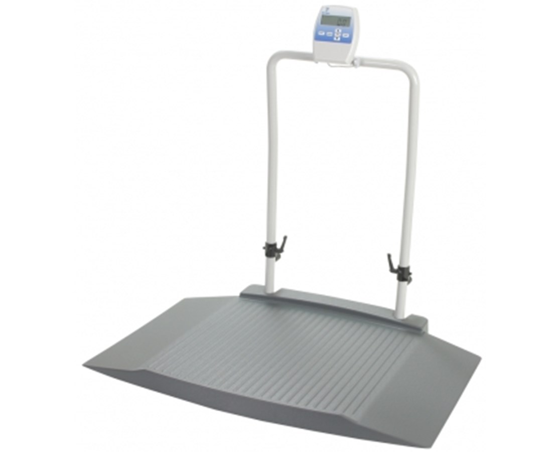 Fold-Up Wheelchair Scale with Dual Ramp, Mast & WIFI Option DORDS8030-