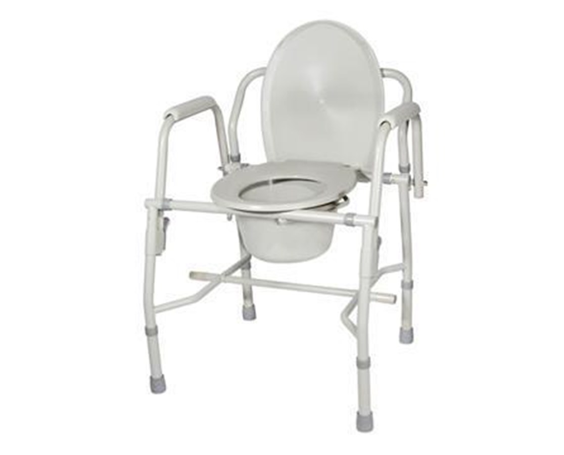 Drive 11125KD-1 Deluxe Steel Drop-Arm Commode