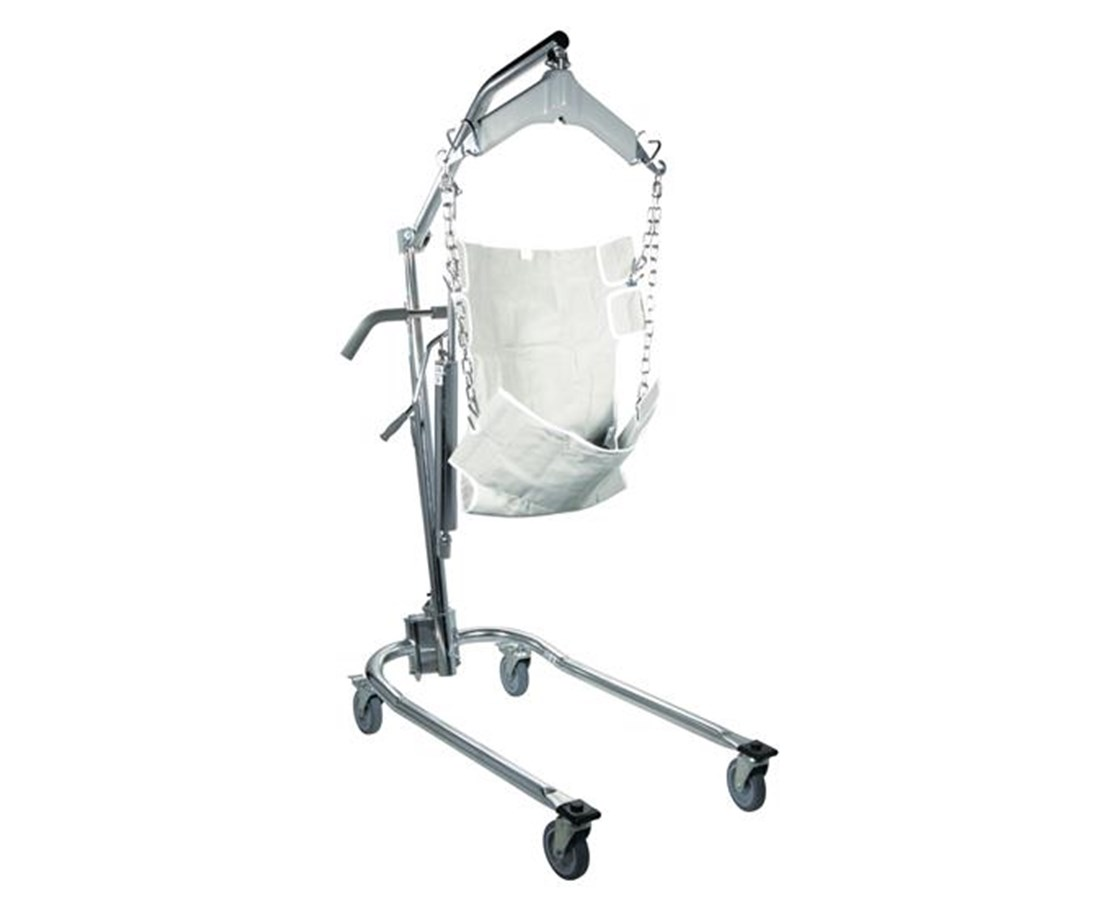 Drive 13023 Hydraulic Deluxe Chrome Plated Patient Lift