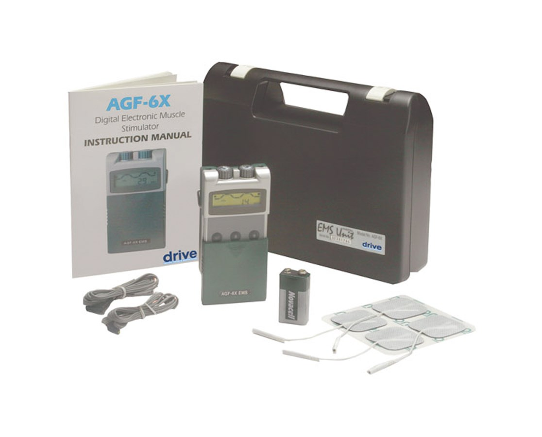 Drive AGF-6X Digital Electronic Muscle Stimulator with Timer