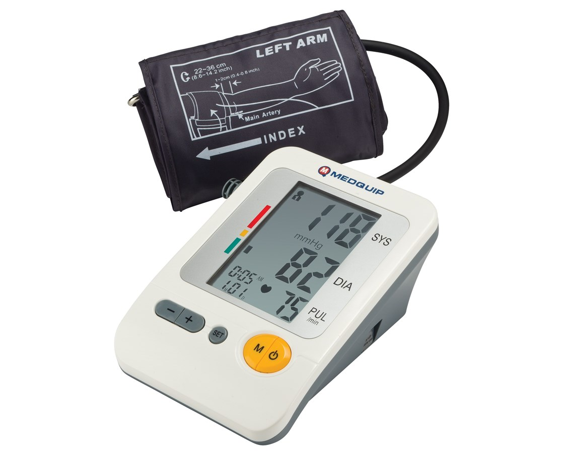 Deluxe Automatic Upper Arm Blood Pressure Monitor DRIBP2400
