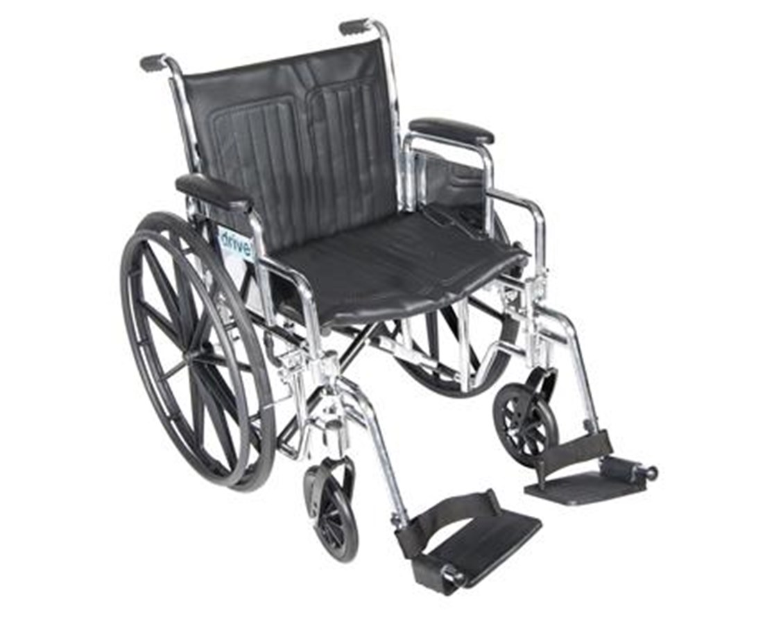 Chrome Sport Wheelchair with Various Arm Styles and Front Rigging Options DRICS16FA-SF