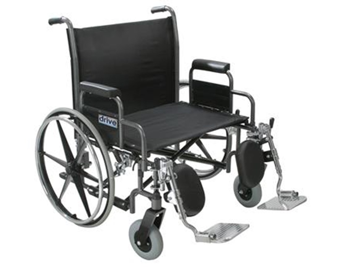 Sentra Heavy Duty Wheelchair with Various Arm Styles DRISTD26DDA