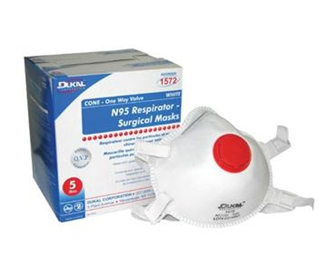 N95 Particulate Respirator with One-way Valve DUK1572