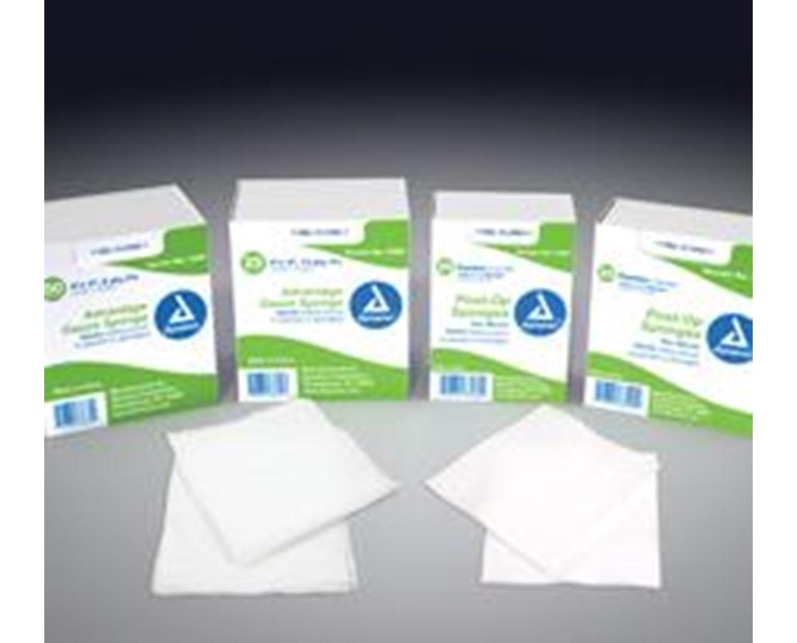 Gauze Sponge, Sterile 2/pouch, 4x4, 12 Ply, 10 Per Box, 128 Boxes Per Case, Total of 1,280 Per Case DYN3345