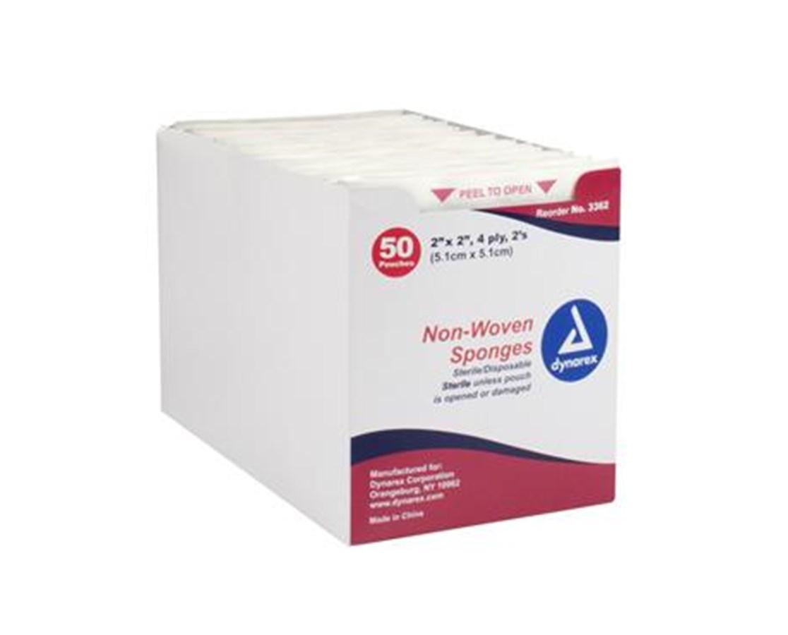 Non-Woven Sponge, Sterile 2/pouch, 4 Ply