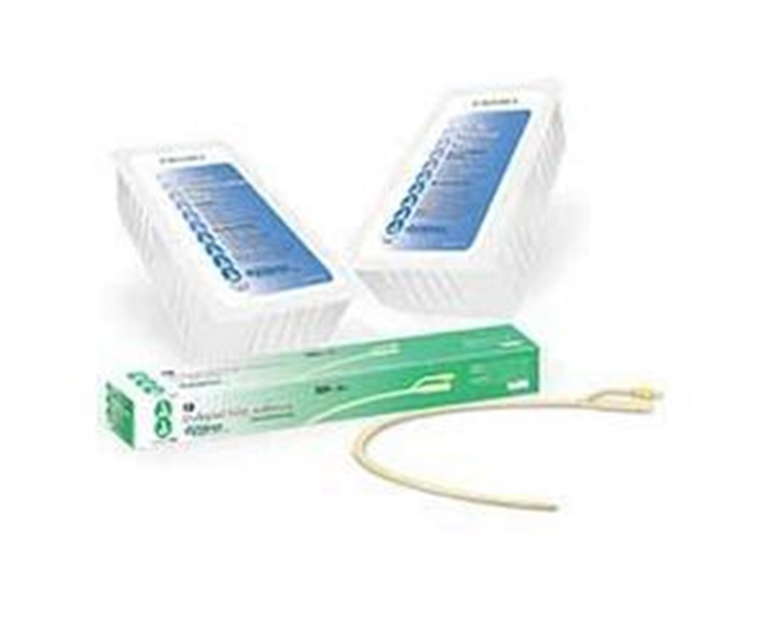 Foley Catheters, Latex, Silicone Coated