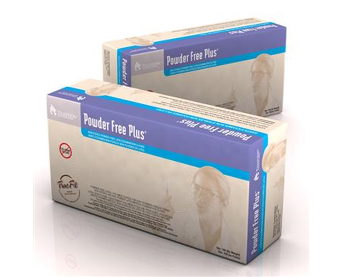 Powder Free Plus Latex Exam Gloves, PolyLined