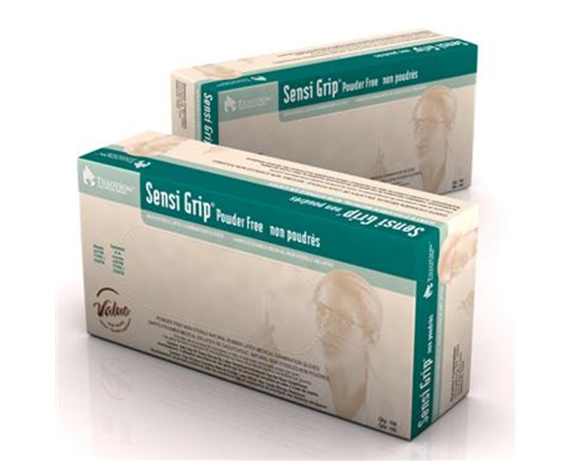 Sensi Grip Latex Exam Gloves, Powder Free