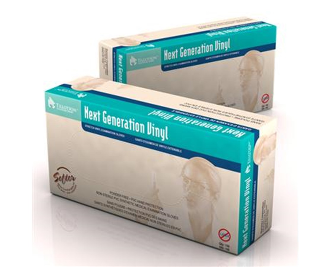 Next Generation Stretch Vinyl Exam Gloves, Powder Free, Non-Latex