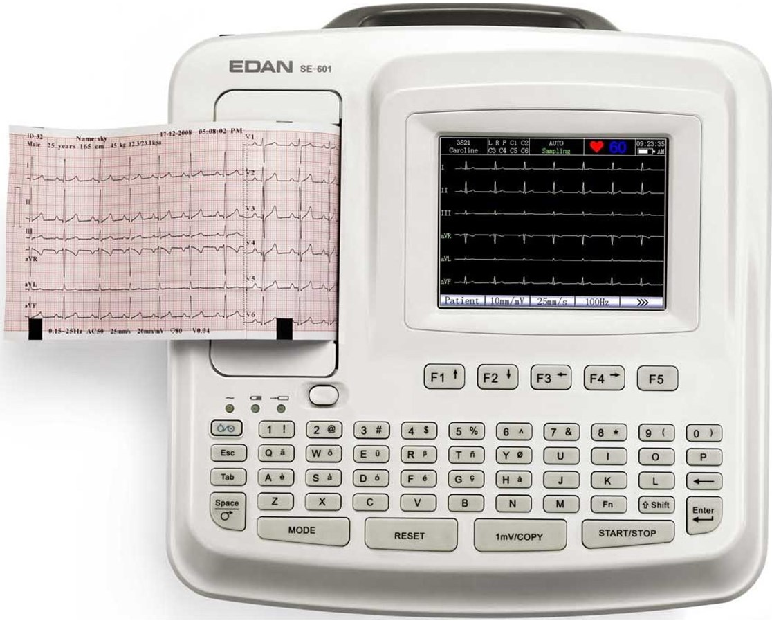 Electrocardiograph with Color LCD Screen EDA SE-601C