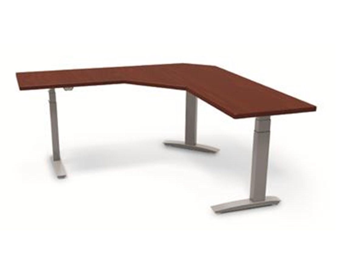 BeneFIT Series Premium Electric Adjustable Table Base for 90° Corner Work Surfaces ESI3E90-C6060-24-