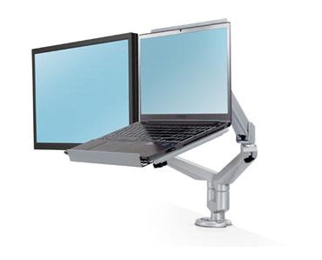 Esi Edge Dual Monitor Arm With Laptop Tray Free Shipping
