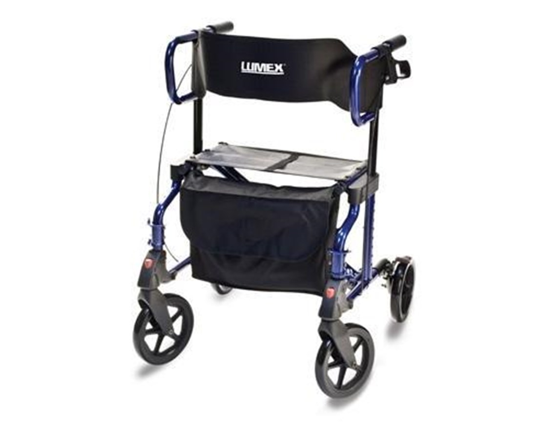 Lumex LX1000B HybridLX Rollator Transport Chair