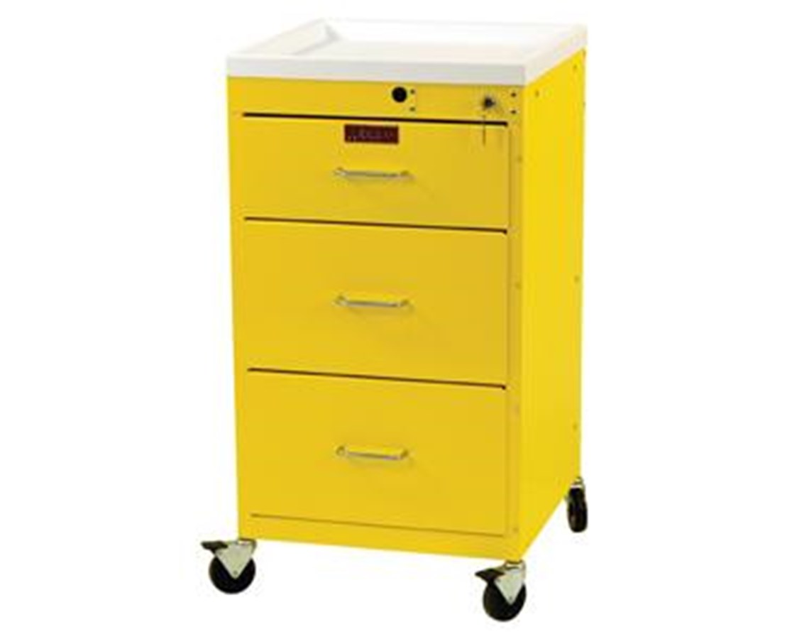 Mini Line Three Drawer Infection Control Cart HAR3143K-