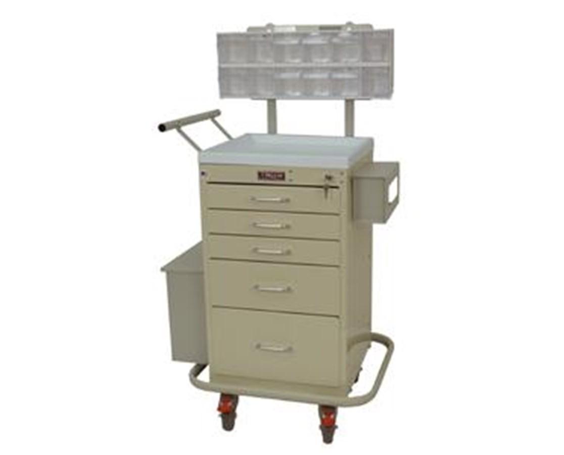Mini Line Five Drawer Phlebotomy Cart HAR3245KPB-