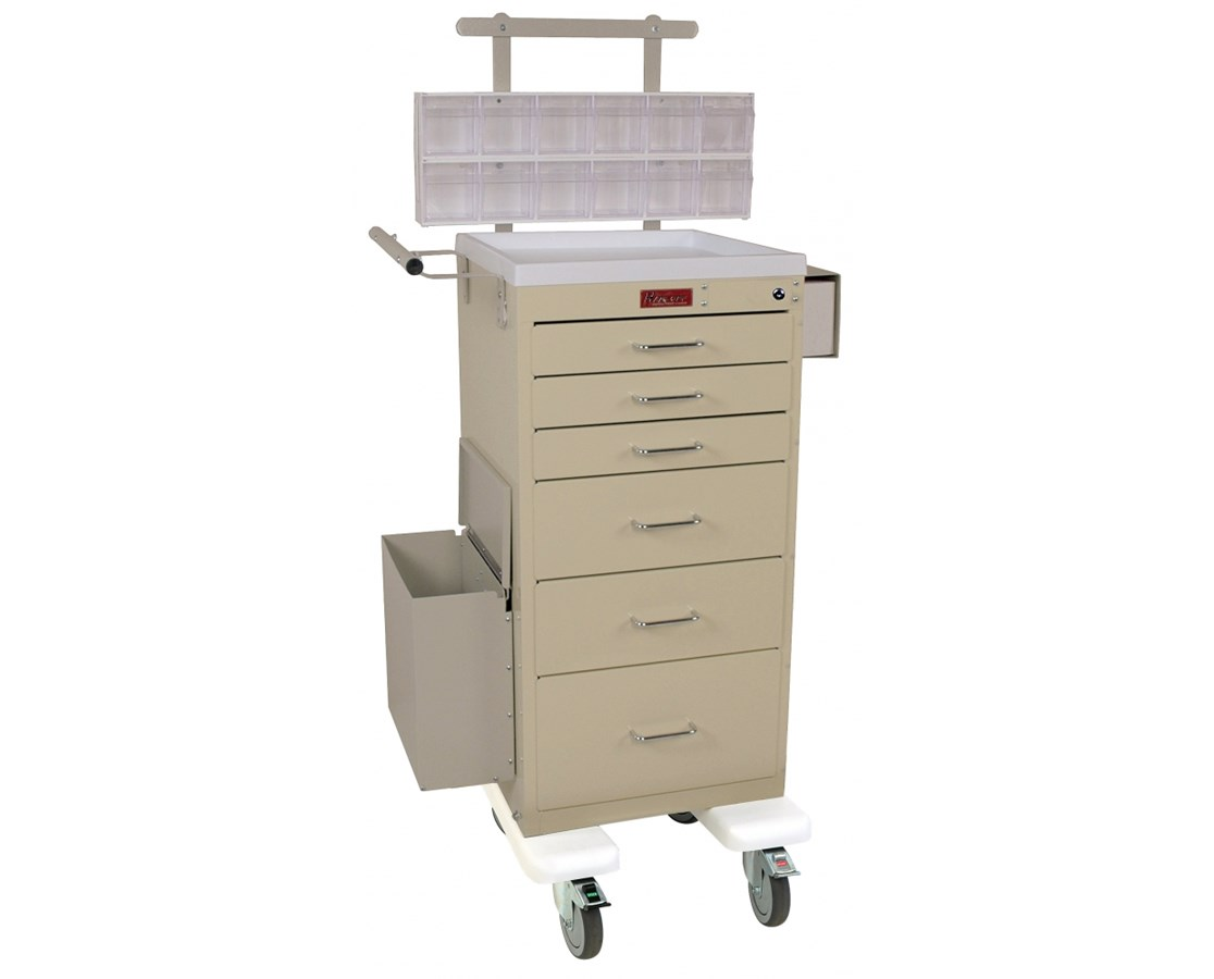 Mini Line Six Drawer Phlebotomy Cart HAR3256KPB-