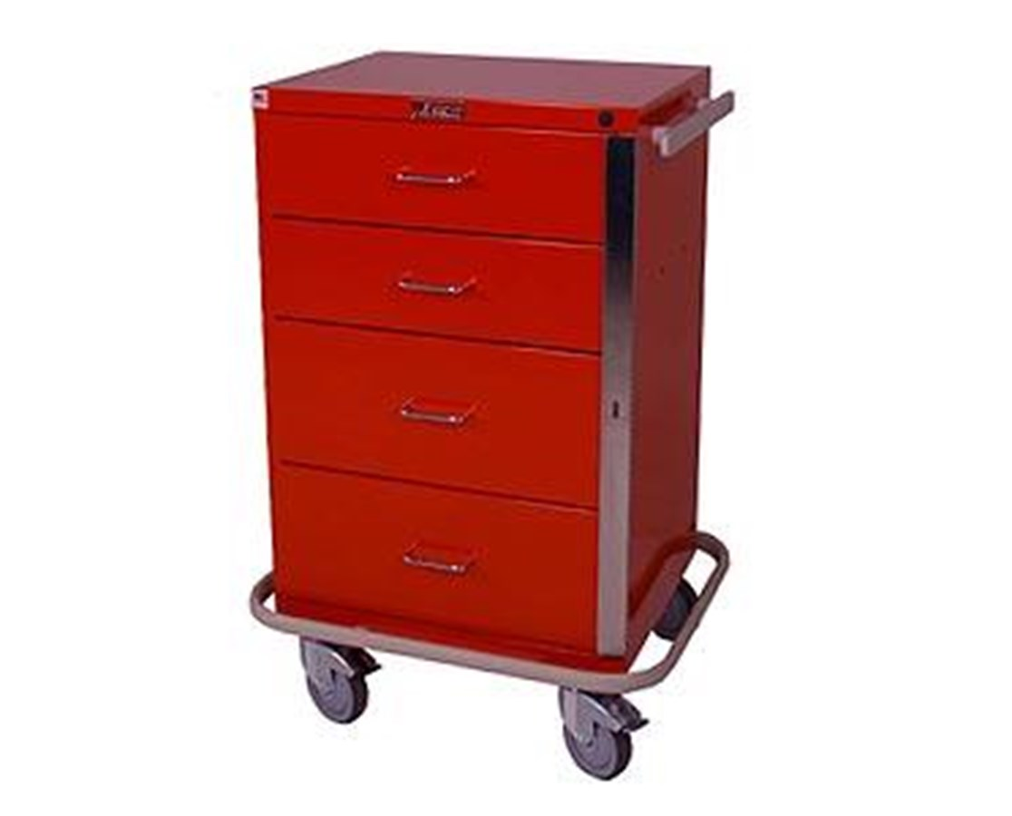 GP Line Four Drawer Emergency Cart HAR6145-
