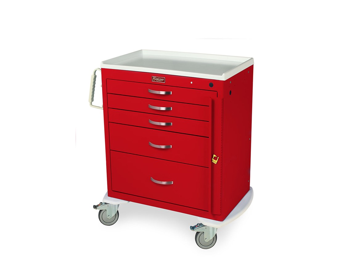 Classic Short Four Drawer Emergency Cart HAR6300-