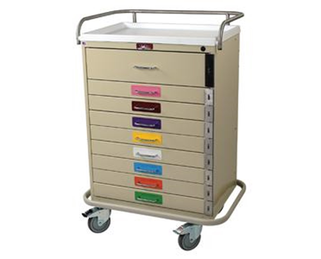 Classic Nine Drawer Pediatric Resuscitation Cart HAR6400PEC-