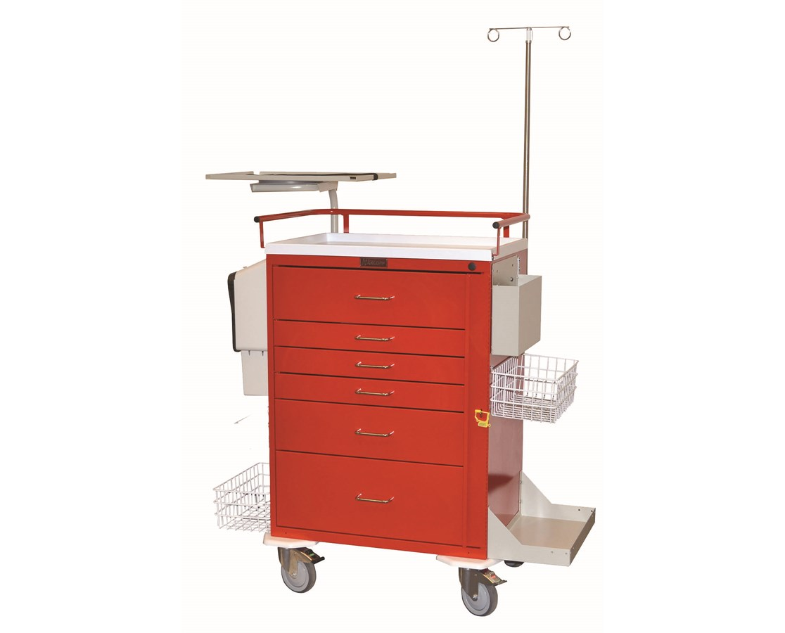 Classic Six Drawer Super Stat Crash Cart HAR6411-