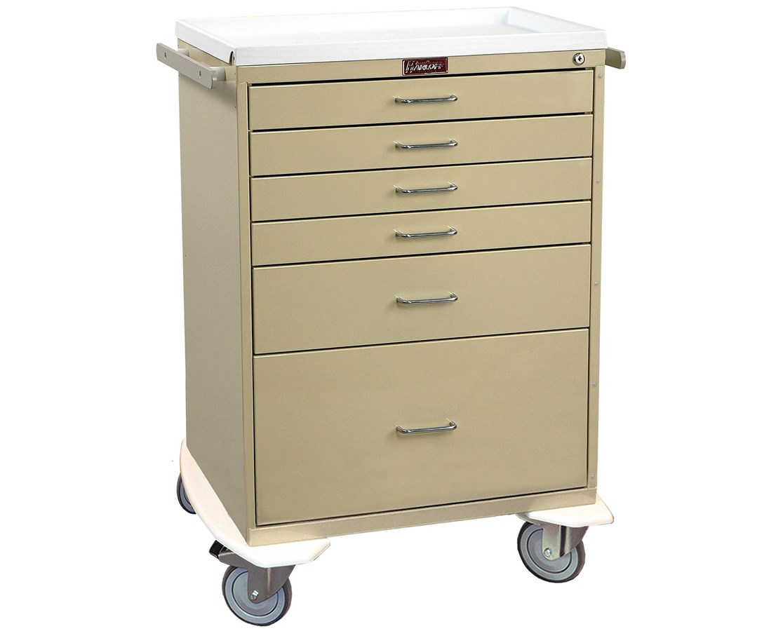 Classic Tall Six Drawer Anesthesia Cart with Key Lock HAR6450-
