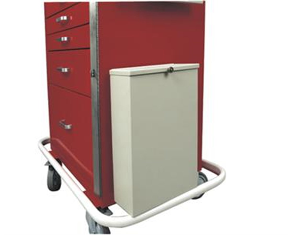 Two Gallon Steel Waste Container with Cover and Mounting Bracket HAR680409